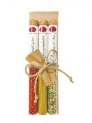 PGIV 21 - In Vitro Brettgeschenk - Feuerschlucker, Zitronenpfeffer, Spaghetti all´Olio - Gourmet Berner (Feinkost-Pohl)